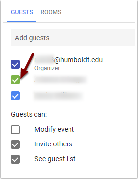 Google Calendar Event - Find a Time - Guests' calendars to display