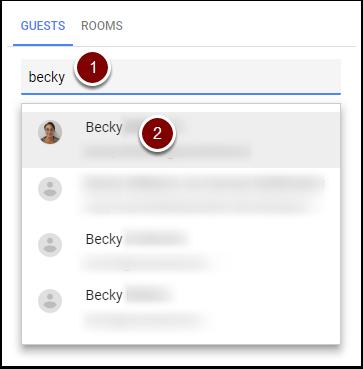 Google Calendar Event Guests