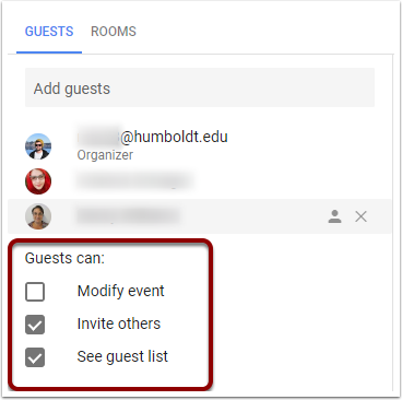 Google Calendar Event Guest Privileges