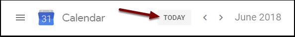 Google Calendar - Today button