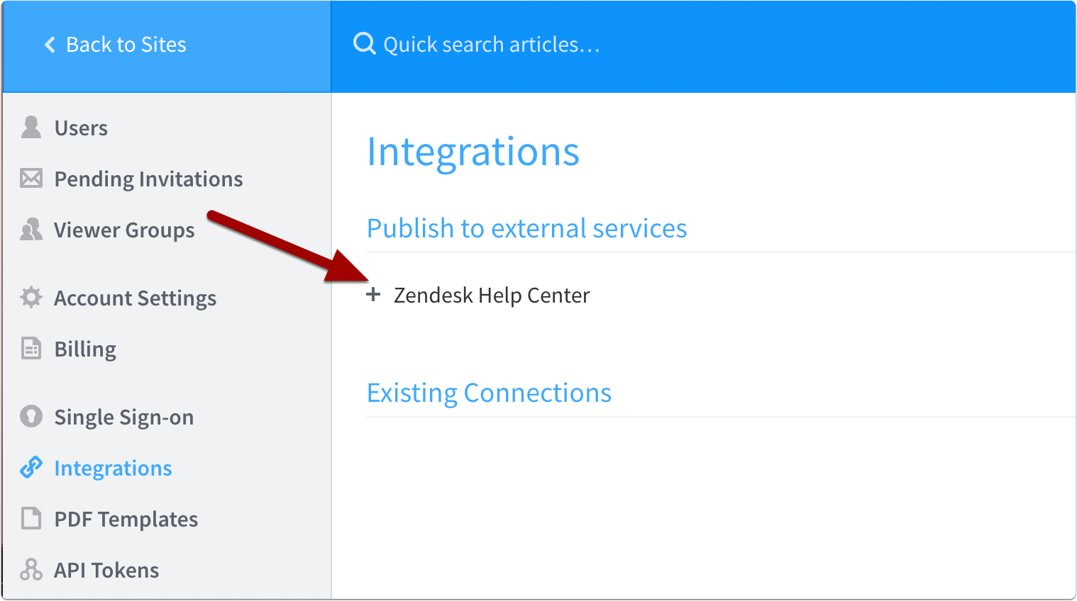 Go to Account Management > Integrations
