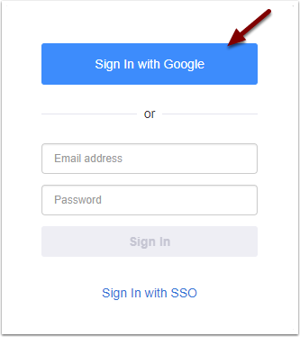 Zoom Chrome Sign in - Sign In with Google button