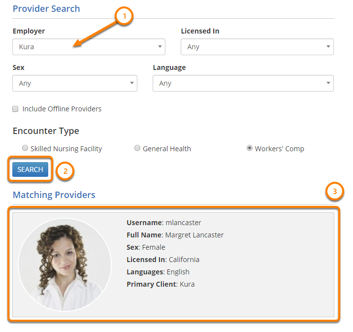 Select a Provider