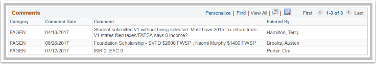Financial Aid Status Page Comments