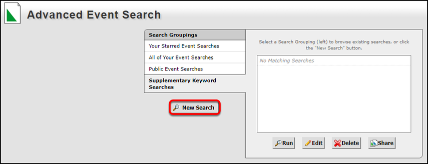 Advanced Event Search