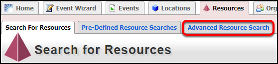 search for resources