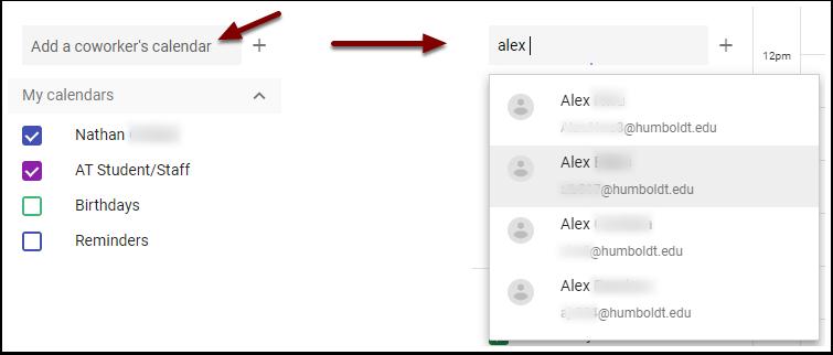 Google Calendar - add a coworker's calendar
