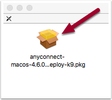 downloaded anyconnect file in the Downloads folder