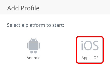 Select Apple iOS Profile in Workspace ONE UEM console.