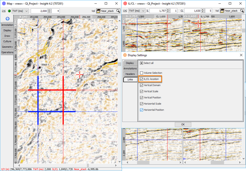 Linking multiple IL/CL position in Map View