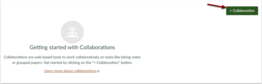 Canvas + Collaboration button