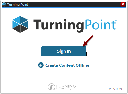 TurningPoint Sign In button