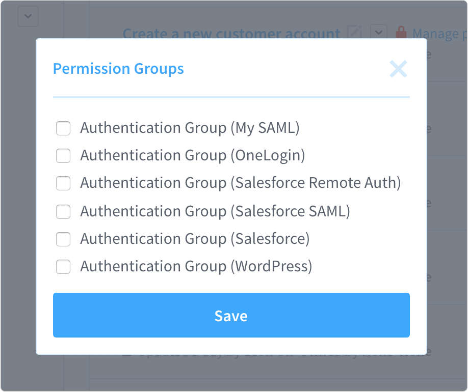 permission groups