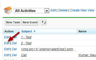 Edit A Task From The Activities List View