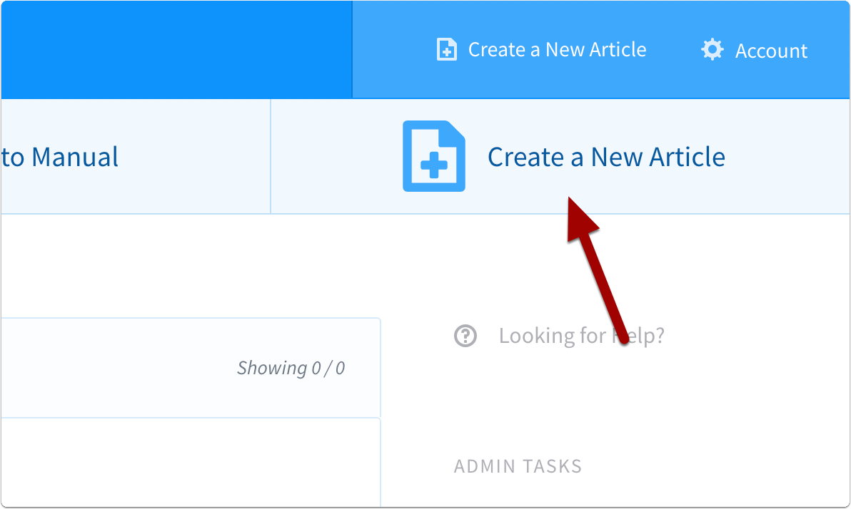 click create a new article