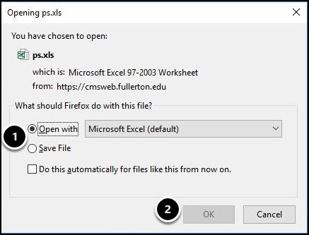 Download dialog box