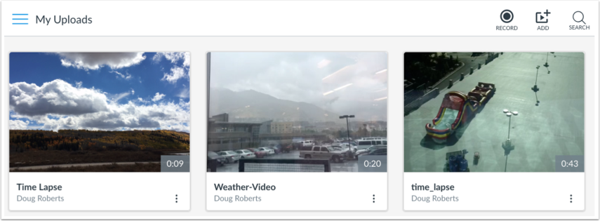 View Uploads