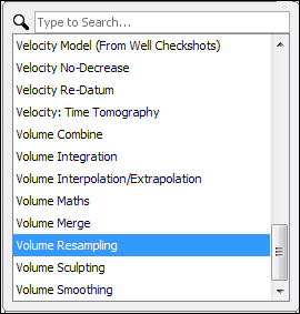 Create a volume resampling process
