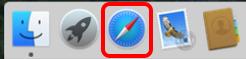 Open the Safari Browser on the Mac Book