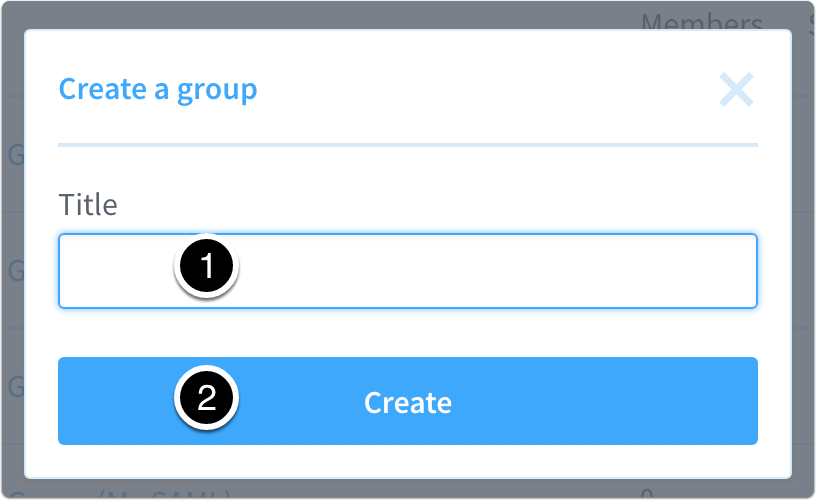 Enter a Group Name