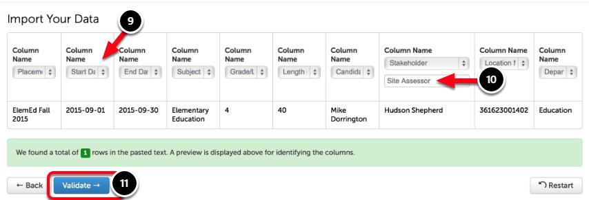 Step 5: Define Columns