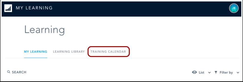 Open Training Calendar
