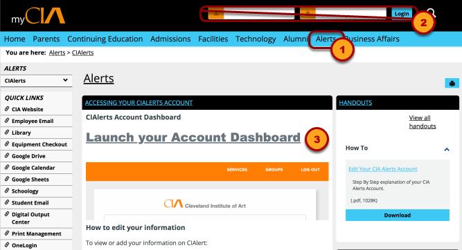 my.cia.edu/alerts