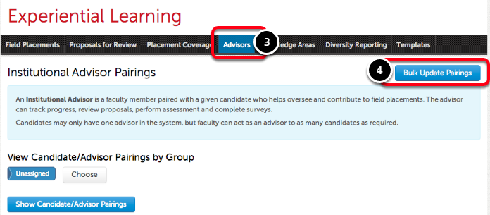 Step 3: Access Advisor Pairings Screen