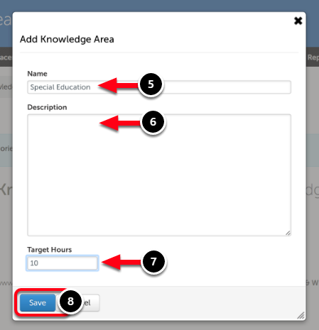Step 3: Create a New Knowledge Area