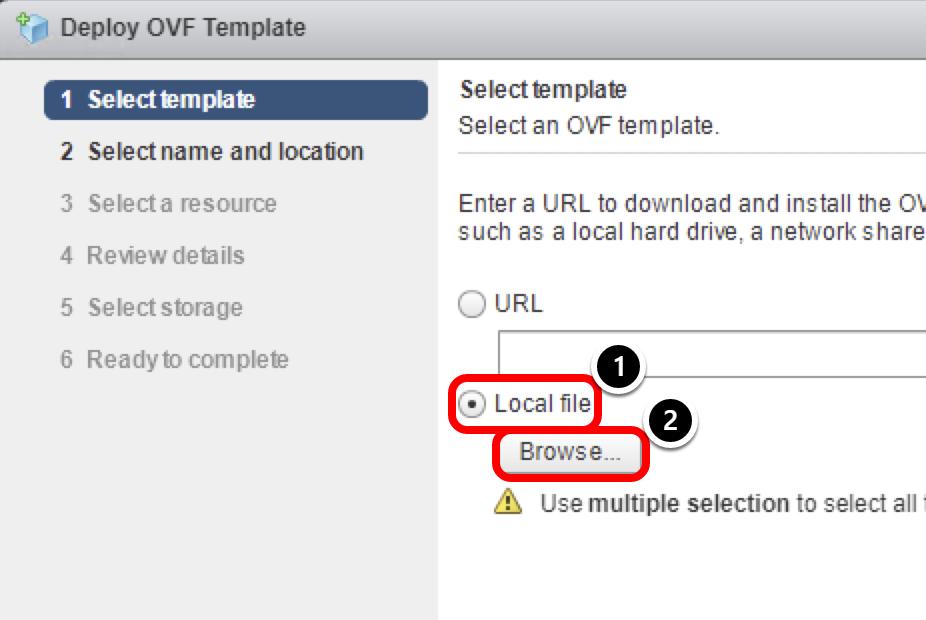 Uploading OVF Template