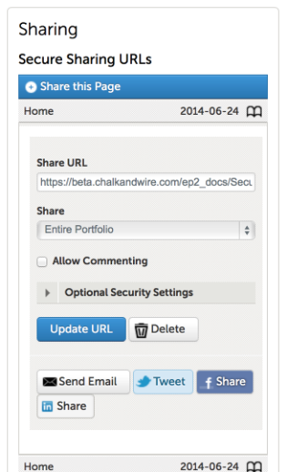 Step 6: Distribute Secure Share URL