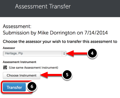 Step 3: Transfer Assessment
