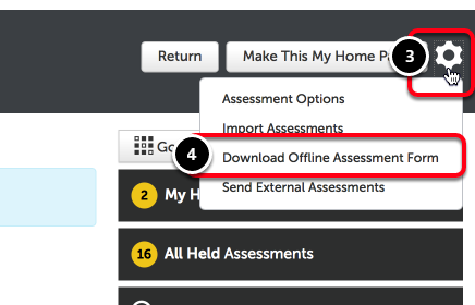 Step 2: Download Offline Assessment Form