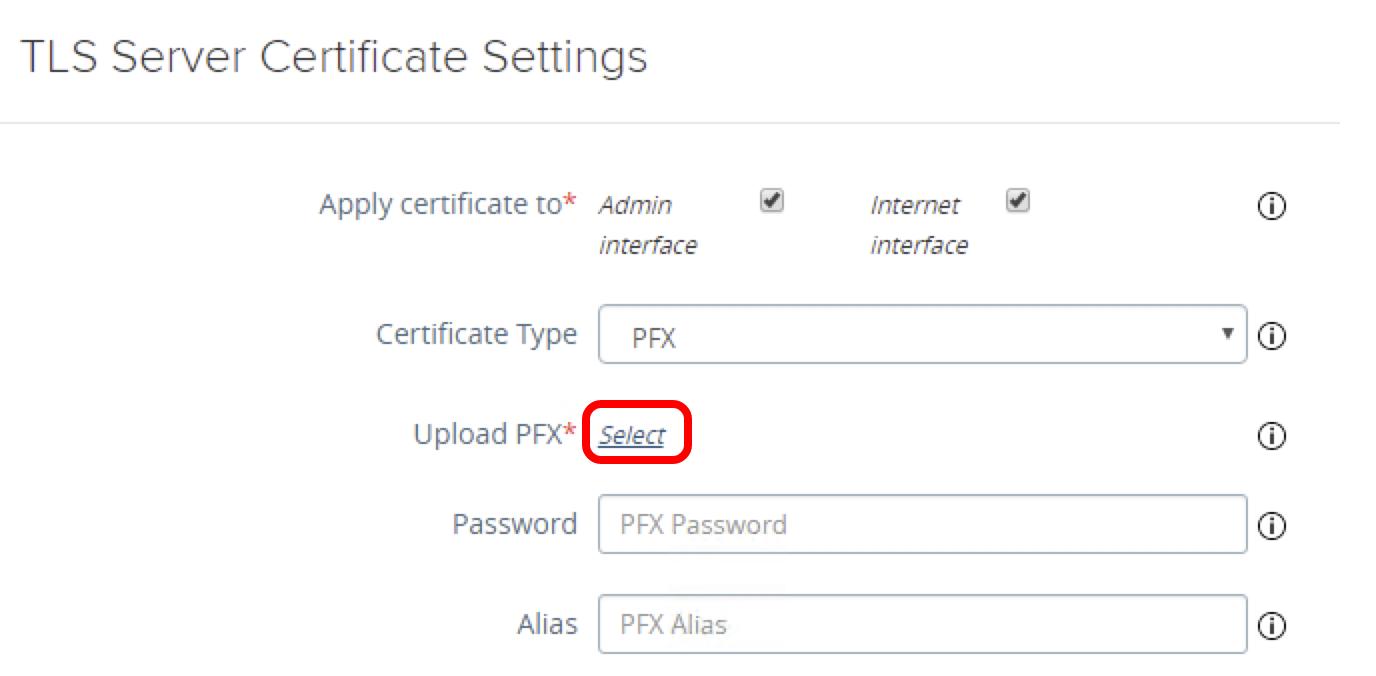 Upload Certificate