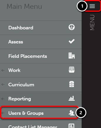 Step 1: Access Course and Advisor Groups