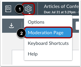 View Moderation Page