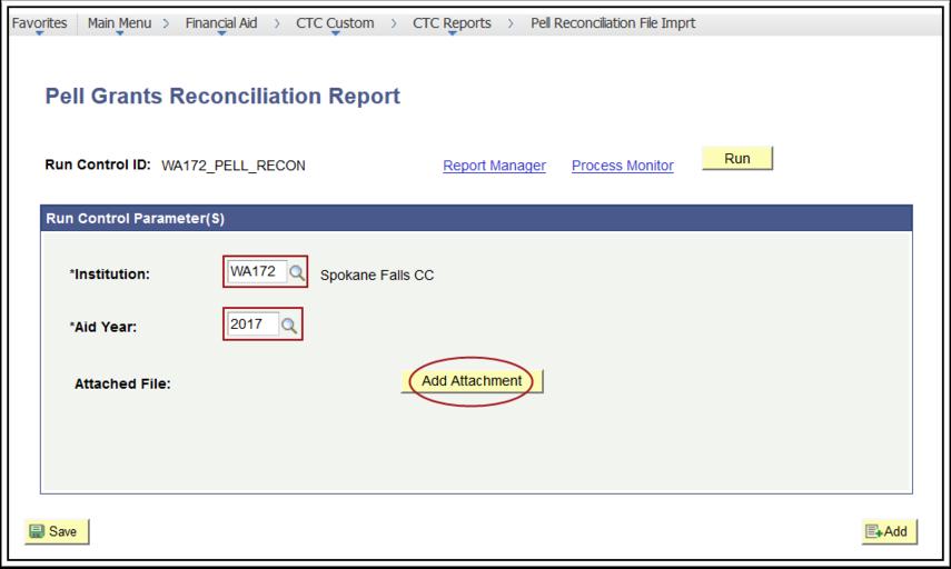 Pell Grants Reconciliation Report