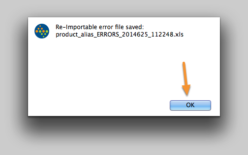 The error log has been saved.