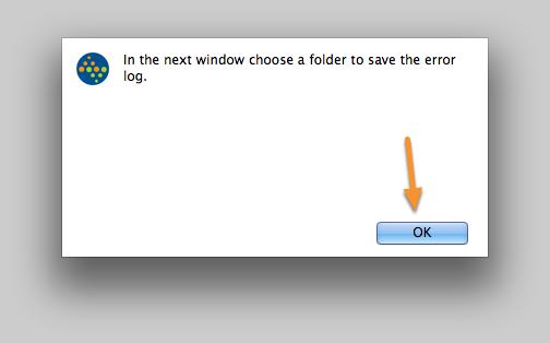 Save the error log.