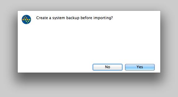 Create a backup?
