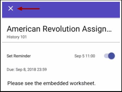 Close Assignment or Event
