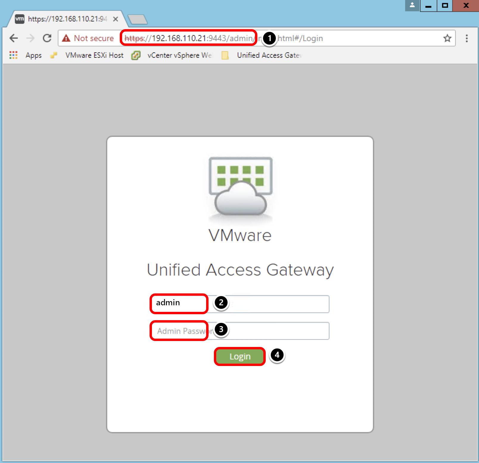 Acessing UAG Admin UI based on new IP address