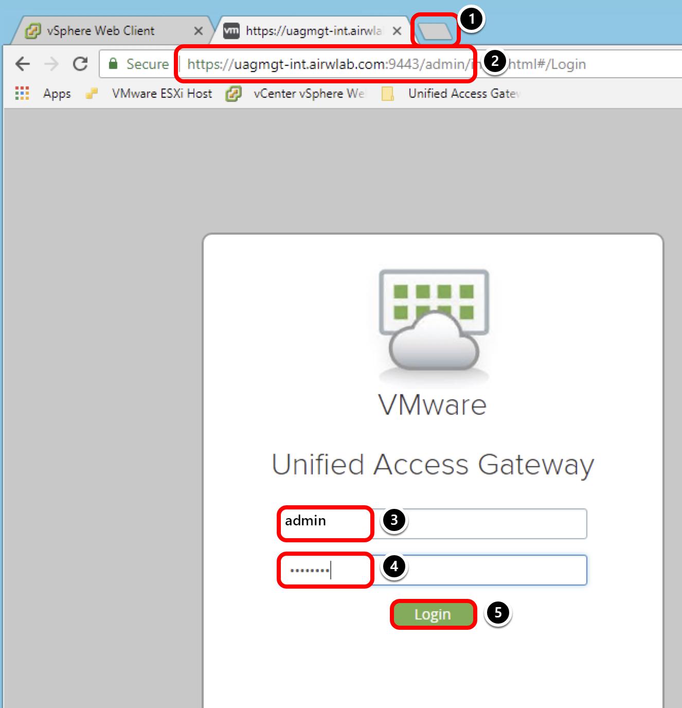 Access UAG Admin UI