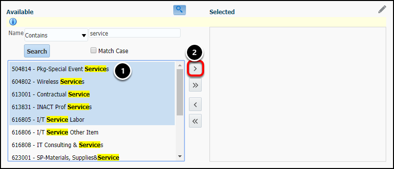 select multiple values