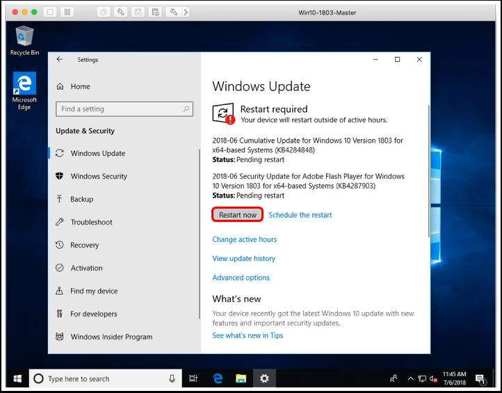 Restart the VM when Windows imaging.