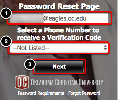 """Enter the appropriate information, then click """"Next"""""""