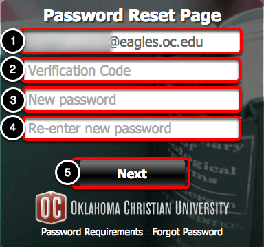 Choose Your New Password