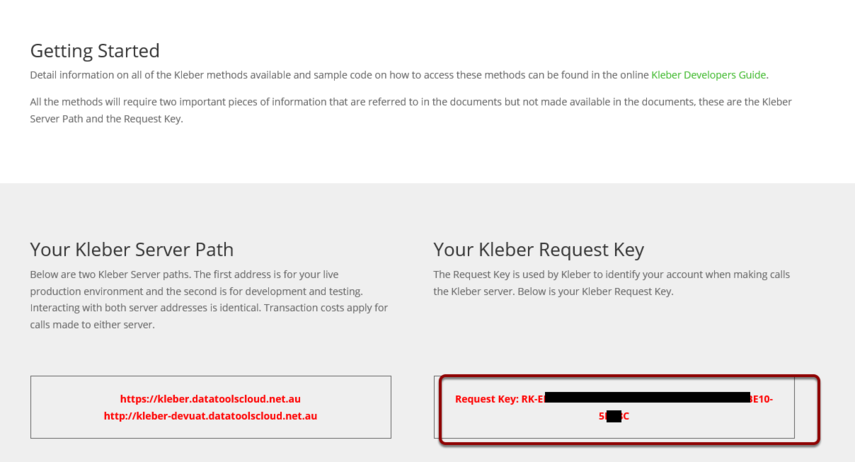 Copy the Kleber API