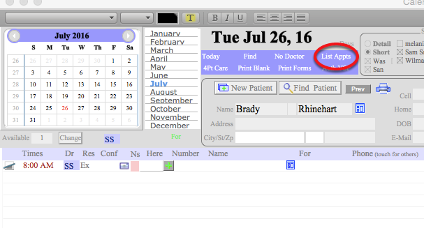 Calendar searches