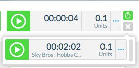 c. Only one timer can be running at a time. When all timers are displayed, all available timers are 'paused'.